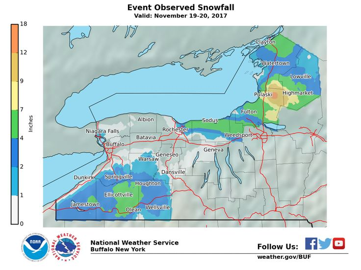 Lake Effect Snow Event Archive New york weather, Lake