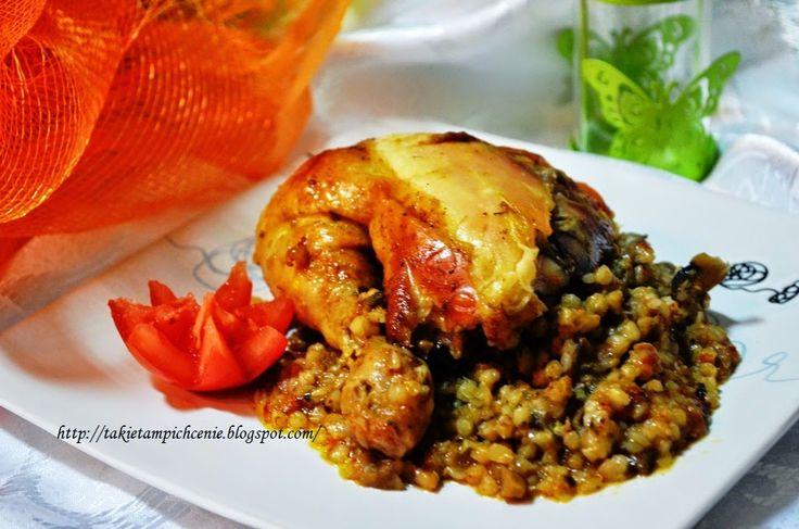 Takie tam pichcenie: Kurczak faszerowany kaszą gryczaną -pyszny obiad