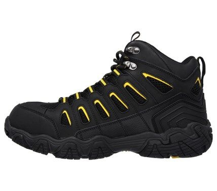 Skechers Work Men's Blais Bixford Memory Foam Waterproof Steel Toe Boots (Black/Yellow) - 14.0 M