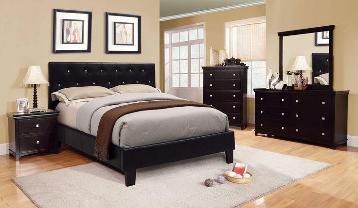 Velen Queen Bed Collection CM7949BK-Q   Camas, California king y ...