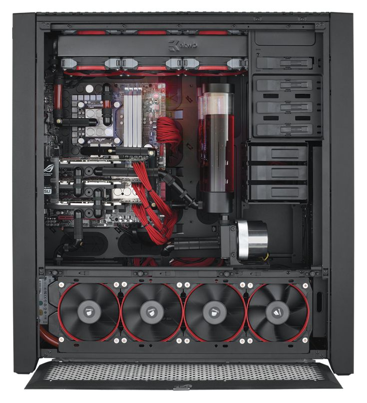Obsidian Series® 900D Super Tower Case - Obsidian Series - Cases - Water cooling dual-loop, tri-SLI