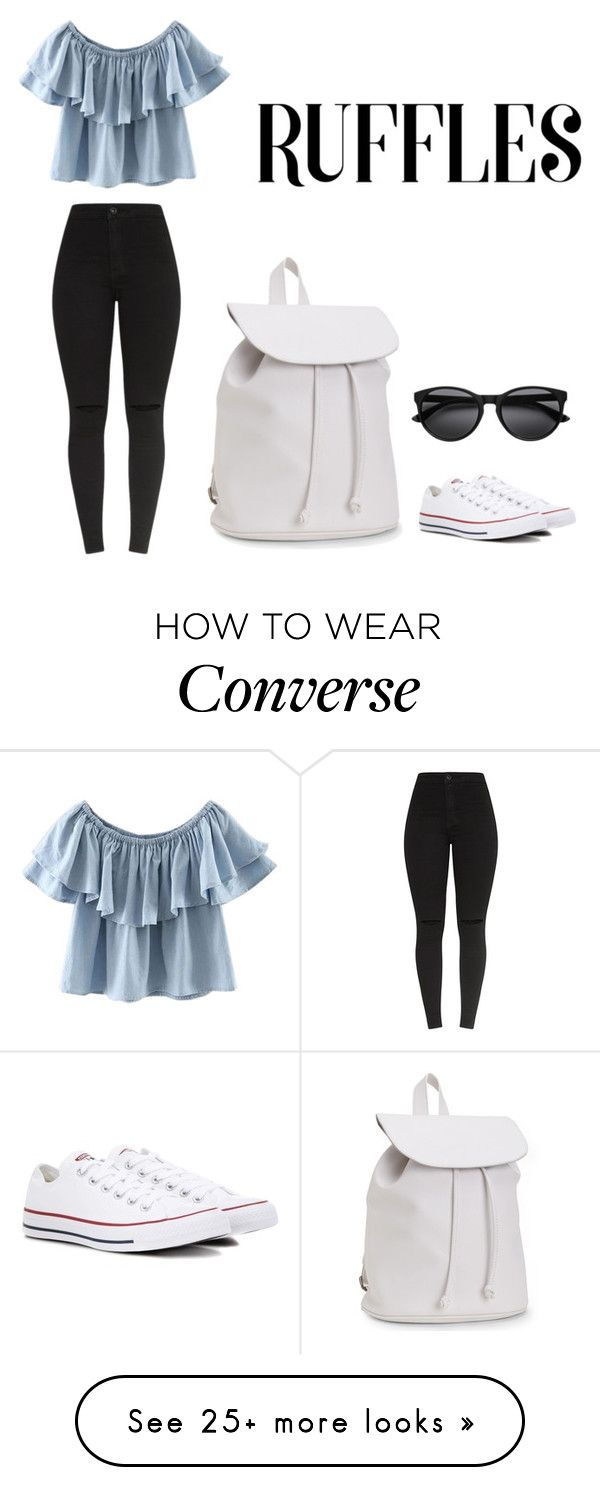 """Ruffles"" by julia-aksjoberg-sevaldson on Polyvore featuring WithChic, Converse and Aéropostale"