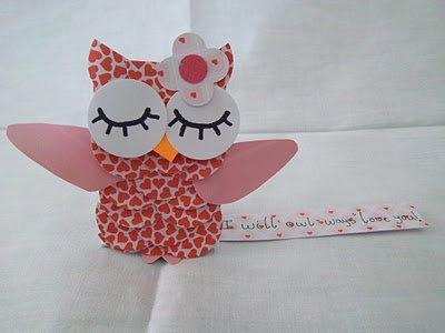 These cute Owl valentines are fun to make - lots more valentine crafts too
