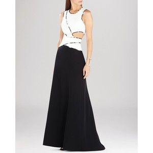 BCBG Max Azria Gown - Nikole Sleeveless Color Block Cutout