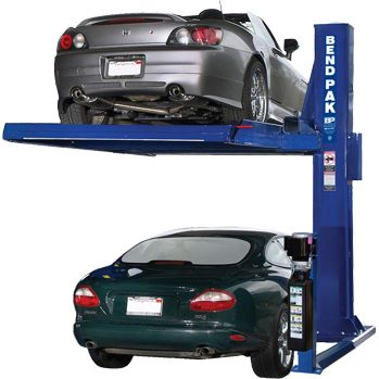 6,000 Lb. Capacity Single Post Car Stacker Parking Lift, DeckIf you want to make the most out of your limited parking space, whether it's personal or commercial, then you need a premium BendPak parking lift. The PL-6000 single-post parking lift by BendPak elegantly makes your parking spaces work twice as hard