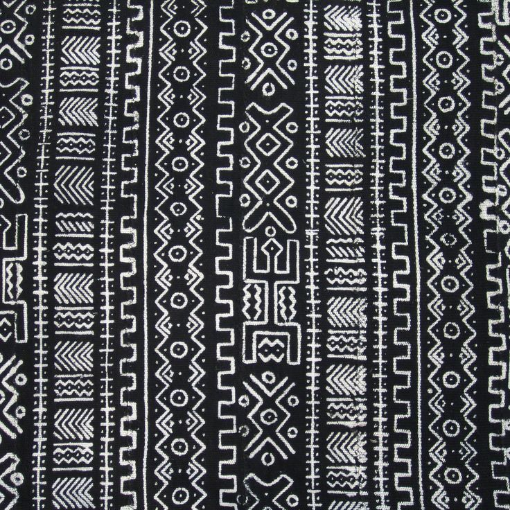 The bogolanfini, or mud cloths, are some of the most impressive of the African textiles. Traditionally made by the women of Mali, they were originally used for hunters' shirts and womens' wraps. The c