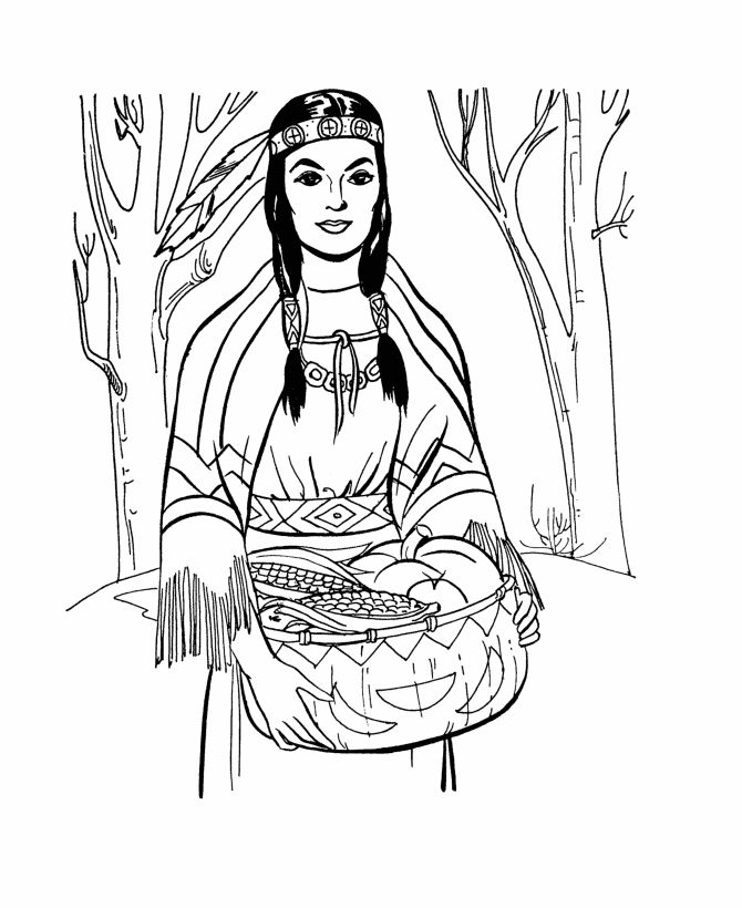 coloring pages indian women coloring page for kids shows a native american - Native American Coloring Book