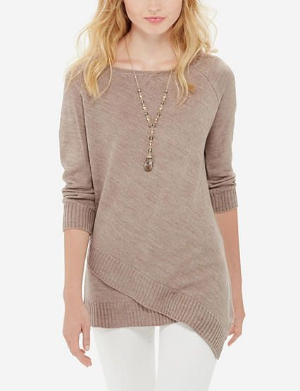 Asymmetrical Tunic Sweater from THELIMITED.com