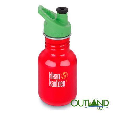 Kid Kanteen Classic Sport Bottle in Farmhouse Red - 12 oz Water Bottle #KleanKanteen #KidsWaterBottle #Waterbottle #InsulatedBottle #SportWaterBottle
