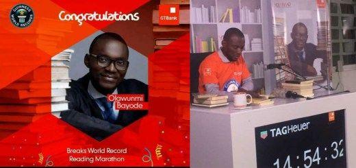 """Nigerian Breaks Guinness World Record In The """"Longest Marathon Reading Aloud Category."""