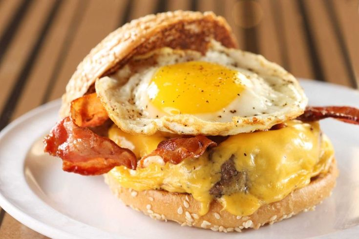 Topped with a fried egg, smoked bacon and American cheese, the brunch burger ($7.95) is a new addition to the menu at Bobby's Burger Palace (at Smith Haven Mall and Roosevelt Field).
