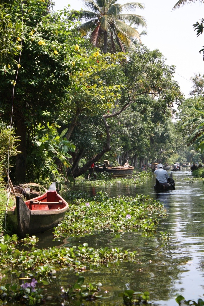 The backwaters near Alleppey, Kerala http://www.greatrail.com/great-train-tours-holiday-destinations/india--the-orient/alleppey.aspx