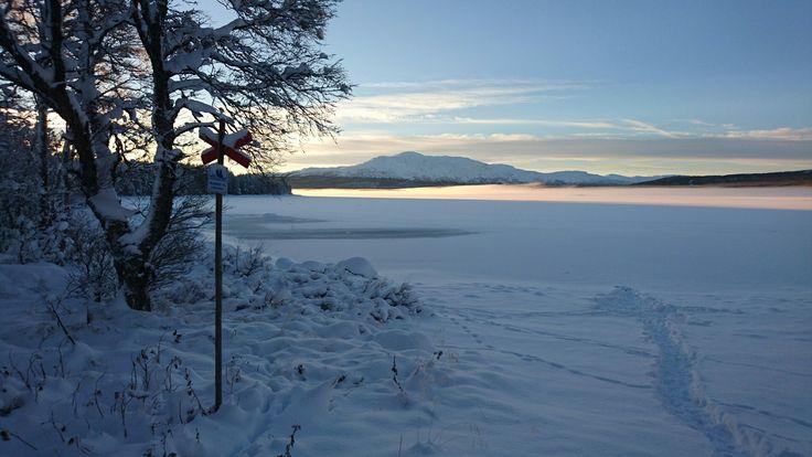 Ottsjön i vinterskrud / lake Ottsjö in winter costume
