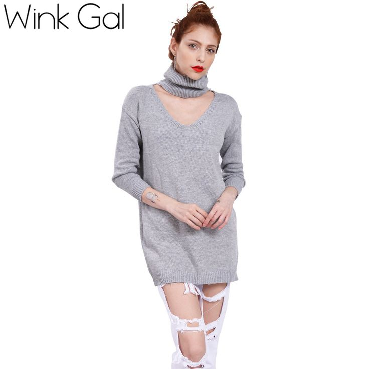 Wink Gal Sweater Dress Long Christmas Sweaters For Winter Oversized Pullovers 10062