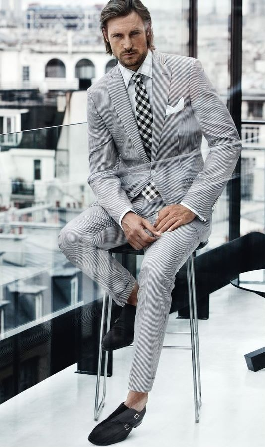 I love the suit... how about we stick to socks, guys?