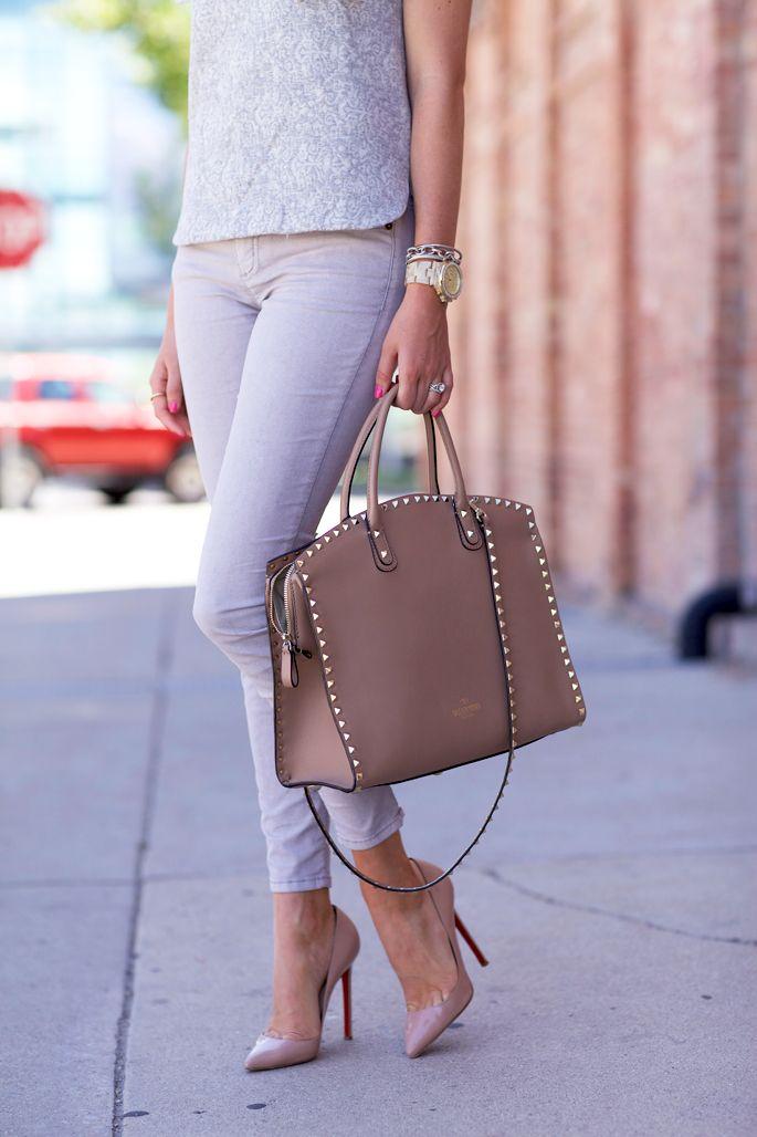 Valentino Rockstud Tote Bag & Denim