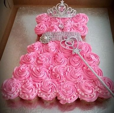 Pink Princess Cupcake Dress - Recipe, Cakes, Desserts, Kid Friendly, Quick and Easy, Birthday Cake