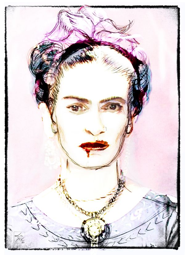 Frida Kahlo by Luis Rodrigues, via Behance