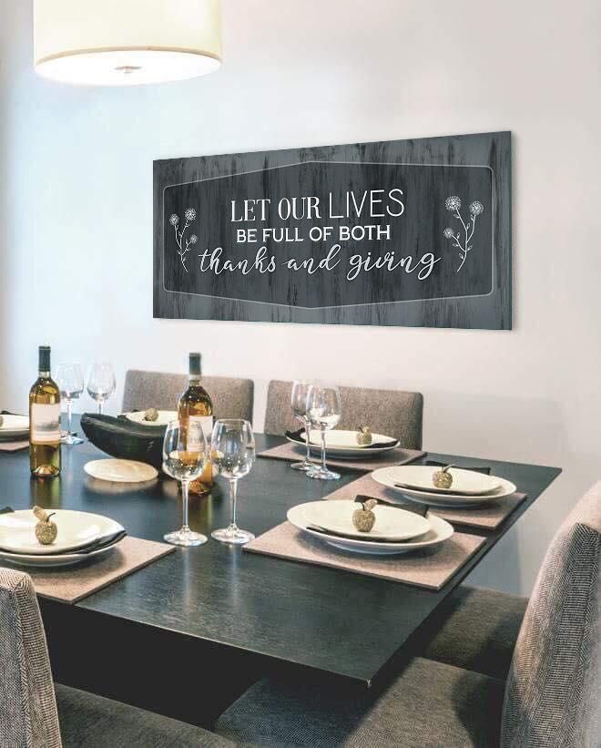Christian Wall Art Let Our Lives Be Full Of Both Wood Frame Ready To Hang Kitchen Decor