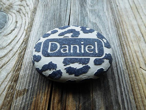 name pebble personalised rock custom name rock engraved stone new baby stone custom christening gift custom gift boy name gift girl