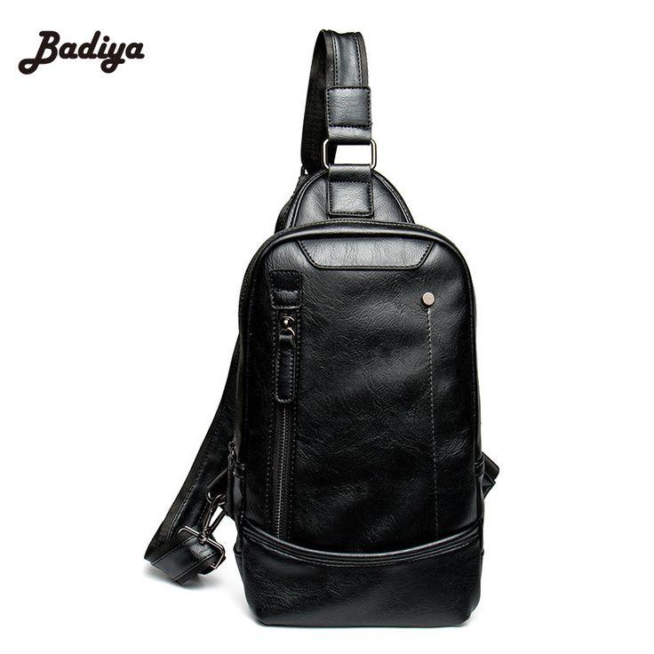 $21.32 (Buy here: https://alitems.com/g/1e8d114494ebda23ff8b16525dc3e8/?i=5&ulp=https%3A%2F%2Fwww.aliexpress.com%2Fitem%2FSolid-Black-Leather-Travel-Men-Crossbody-Bags-Single-Shoulder-Strap-Back-Bag-Vintage-Mens-Rucksack-Chest%2F32714688745.html ) Solid Black Leather Travel Men Crossbody Bags Single Shoulder Strap Back Bag Vintage Mens Rucksack Chest Bag for just $21.32