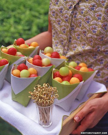 shower foodLittle Boxes, Fruit Salad, Cute Ideas, French Fries, Fruit Cups, Parties Ideas, Paper Cups, Bags, Parties Food