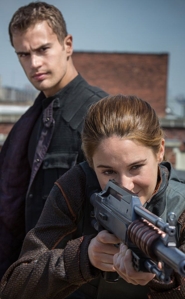 """Shailene Woodley & Theo James from Divergent Movie - everytime I see this pic I think """"I'm gonna get yah, I'm gonna get yah!"""" :p"""