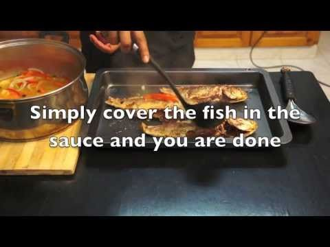 ▶ Jamaican Escovitch Fish Recipe How to cook GREAT Food fried snapper scotch bonnet yardy cooking - YouTube