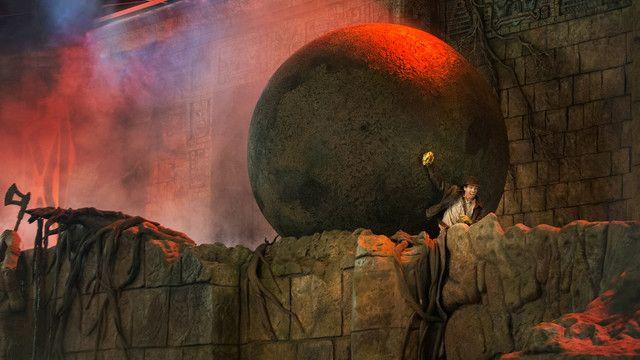 Enjoy reenactments of popular scenes from the Indiana Jones film series