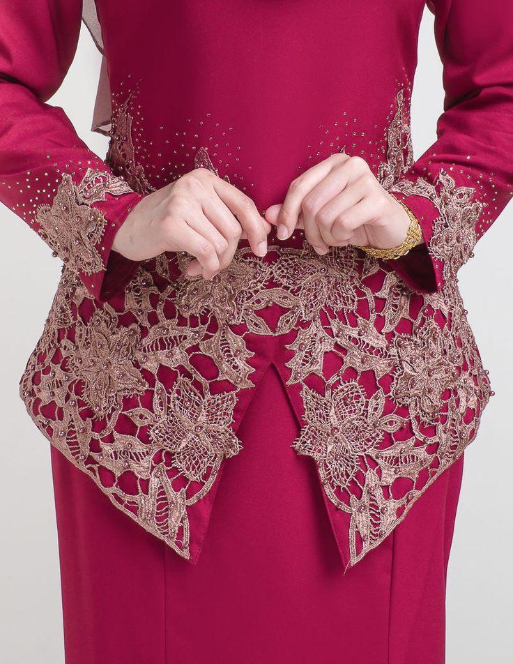 Baju Kurung : kurung moden pendek lace
