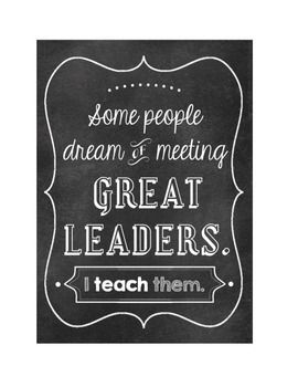A great addition to your visuals for Steven Covy's Leader in Me program or any environment in which leadership qualities are promoted.  Show your students that you support their leadership endeavors.  PDF format.