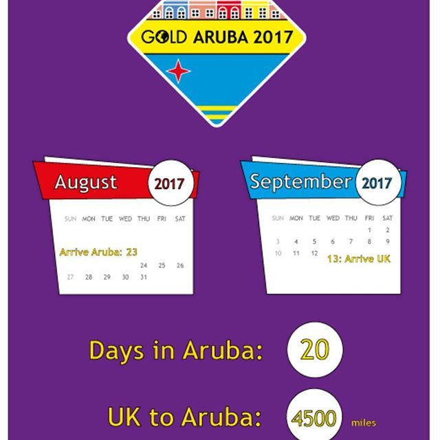 With our flights now booked our latest blog post (see bio for link) tells you some interesting facts and figures about our project #girlguiding #GOLD #Aruba #blog #infographic