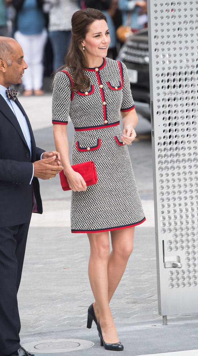 Kate Middleton visits the new wing of the V&A Museum in London.