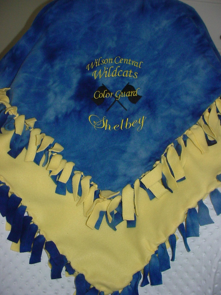 Personalized Fleece Blanket For Band with Color Guard Flags...we should totally do this.