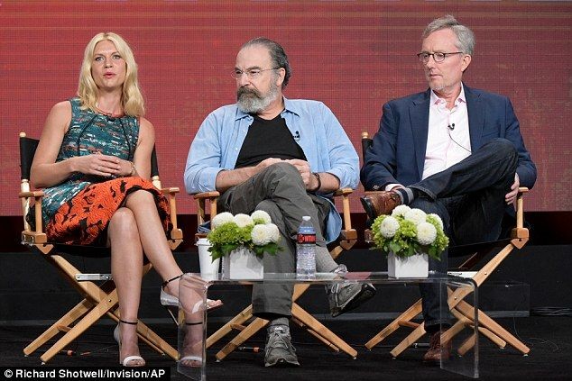 Popular series: Mandy Patinkin and co-creator Alex Gansa joined Claire on the…