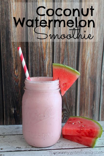 Coconut Watermelon Smoothie made with #SilkAlmondBlends #shop