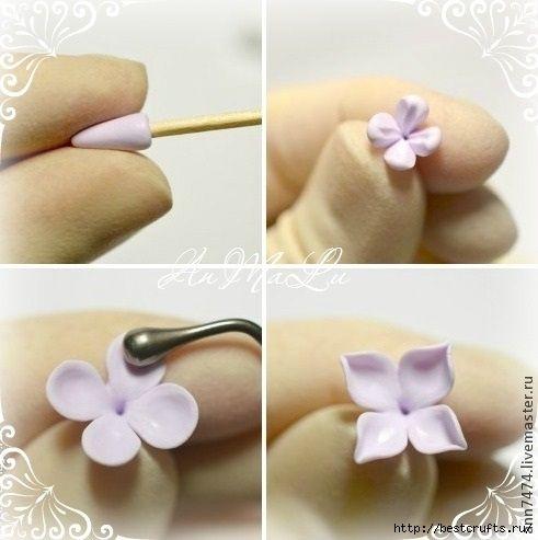 крохотные цветы из полимерной глины мастер класс: 19 тыс изображений найдено в Яндекс.Картинках