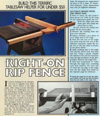 #2010 DIY Table Saw Rip Fence - Table Saw