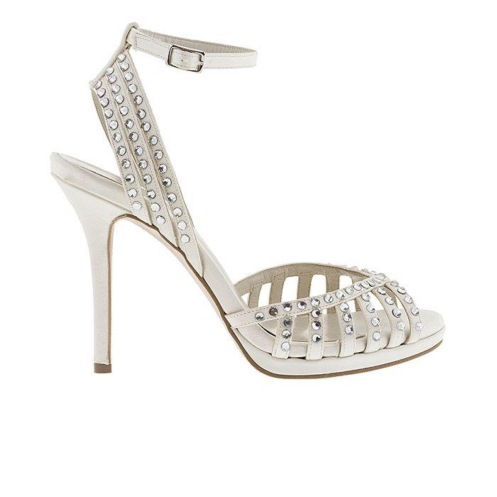 1008B28-IVORY SATINwww.mourtzi.com #sandals #heels #mourtzi #greekdesigners #bridal #weddingshoes