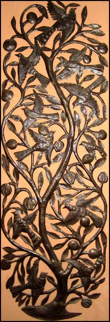 Birds & Leaves Metal Wall Decor  Upcycled Haitian by HaitianMetal, $119.95