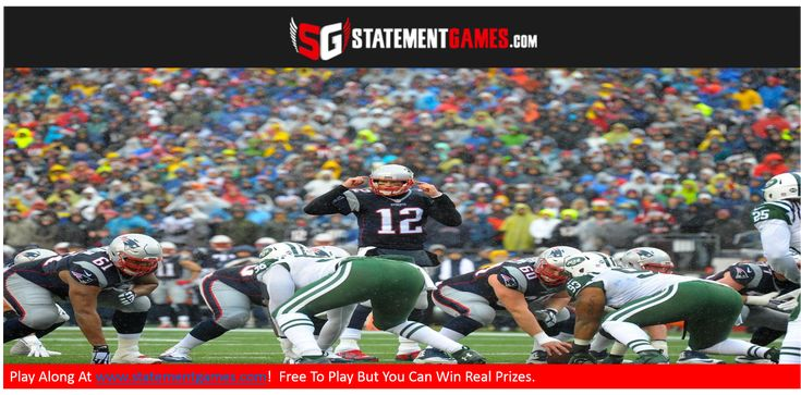It is our last #Jets game of the year!  At www.statementgames.com you play for FREE but compete for real prizes! (Gift cards, sporting event tickets,etc.  Message us for more information) For our #NYJVsNE tournament, give us #NYJ DEF UNDER 1.5 sacks.  #PatsNation #GangGreen #NFL #NFLProp #DFF #FantasyFootball #TomBrady #Patriots
