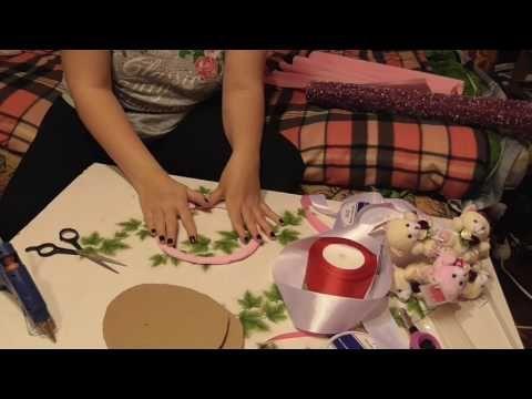 Как сделать букет из игрушек, который будет стоять без вазы сам - YouTube