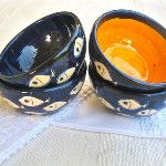 Spanish pottery from Andalucía - ceramic bowls with little fishes