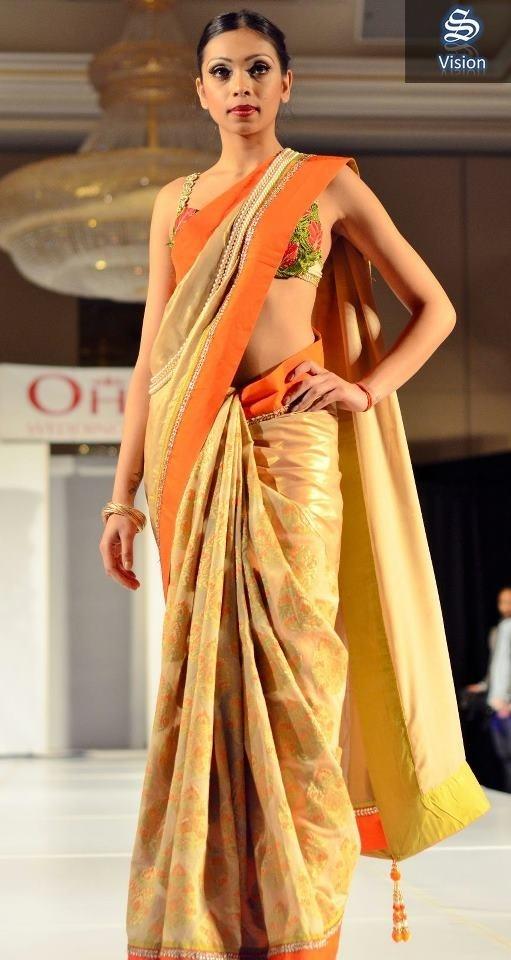 Ohm Bridal Fashion Show 2013   Wearing: Sarees Botique
