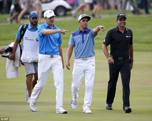 Jordan Spieth (left), Rickie Fowler (centre) and Jason Day golf's young guns.