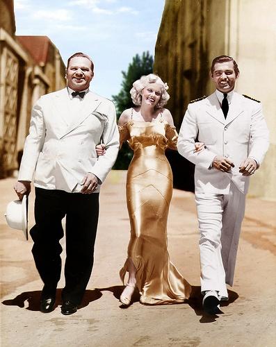 Wallace Beery, Jean Harlow, Clark Gable