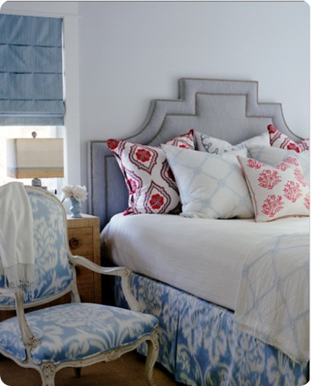 Pattern play | ikat + mixed patterns: Guest Room, Interior, Headboard Shape, Hello Gorgeous, Diy Headboards, Master Bedroom, Bedrooms, Bedroom Ideas