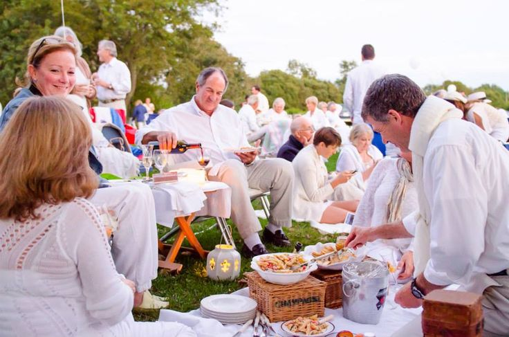 All-white picnic from last summer's DINER EN BLANC at Norman Bird Sanctuary