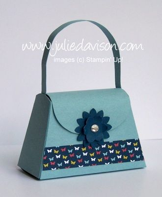 Stampin' Up! Petite Purse die with Big Shot, cuts from a half sheet of cardstock -- by Julie Davison, http://juliedavison.com
