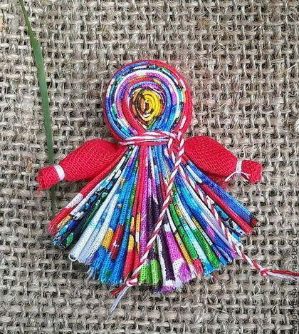 """Народные куклы ручной работы. Ярмарка Мастеров - ручная работа. Купить Магнит """"Северная берегиня"""". Handmade. Брелок, народная кукла"""